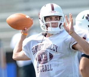 Corkery passed for 2,328 yards and 27 touchdowns   in his final two years as Garnet Valley's starting quarterback.