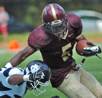 Haverford School's Phil Poquie had 188 yards and two TDs in a loss.